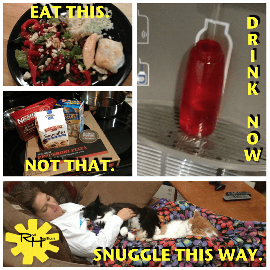 Eat this. Drink that. Snuggle this way.