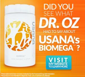 Biomega on the Dr. Oz Show